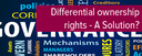 Topic of the month September 2015: Differential ownership rights